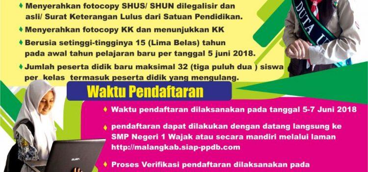 Pendaftaran Peserta Didik Baru (PPDB) Tahun Ajaran 2018/2019