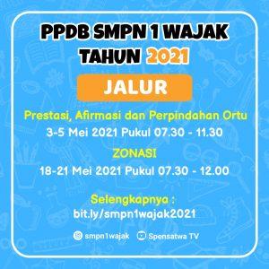 PPDB SMPN 1 WAJAK 2021
